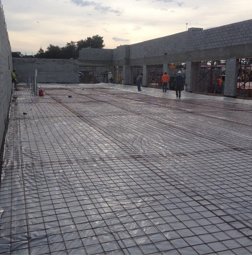 Slab before concrete pour